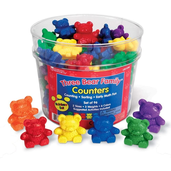 Learning Resources - Three Bear Family Counter Set (6 Colours)