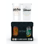 Harry Potter Crests Twin Large Glasses