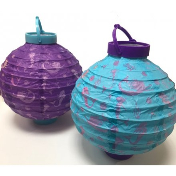 Purple and Turquoise Paper Lanterns (1 Random Supplied)