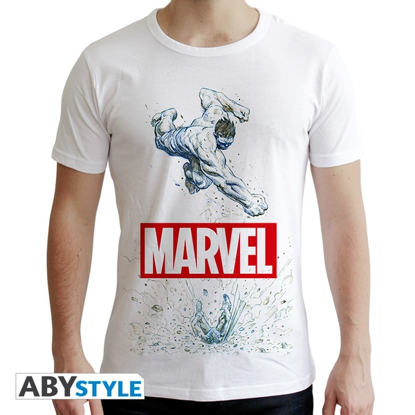 Marvel - Marvel Hulk Men's X-Small T-Shirt - White