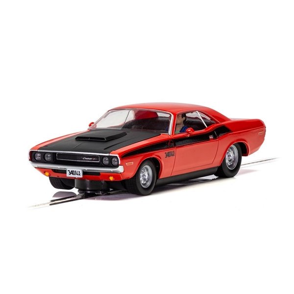 Dodge Challenger T/A Red and Black 1:32 Scalextric Classic Street Car