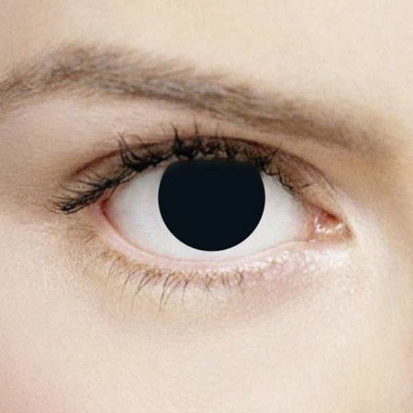 1548c77a4b9 Hey! Stay with us... Mini Sclera Black Out 1 Day Halloween Coloured Contact  Lenses ...