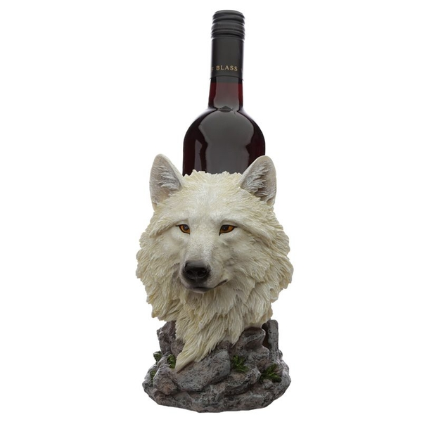Protector of the North Dream Walker White Wolf Bottle Holder