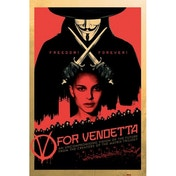 Neca V For Vendetta Red Maxi Poster