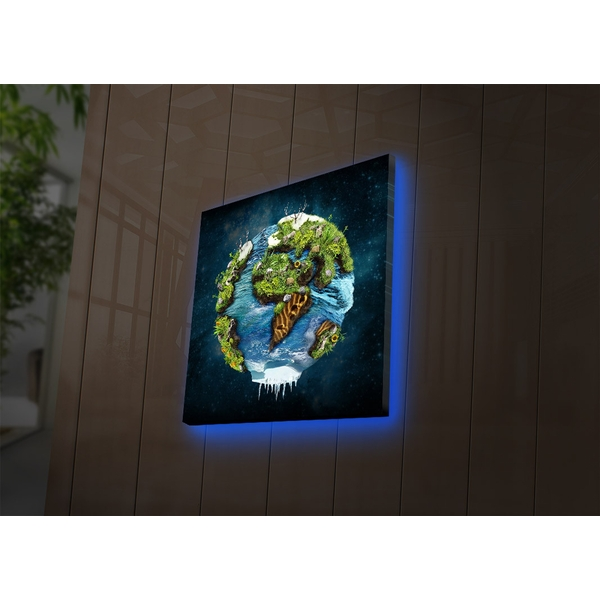 2828DACT-33 Multicolor Decorative Led Lighted Canvas Painting