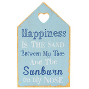 Happiness Is The Sand Wall Plaque
