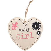Baby Girl Hanging Heart Sign
