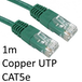 RJ45 (M) to RJ45 (M) CAT5e 1m Green OEM Moulded Boot Copper UTP Network Cable - Image 2