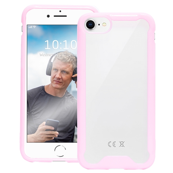 Groov-e GVMP027 Bumper Case for iPhone 6/7/8 - Clear/Pink
