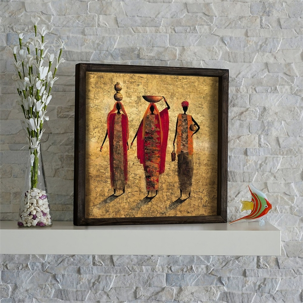 KZM422 Multicolor Decorative Framed MDF Painting