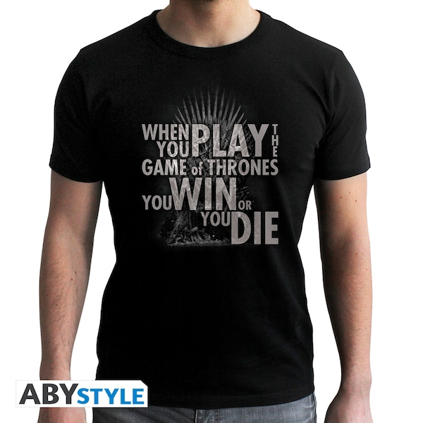Game Of Thrones - Quote Trone - Men's X-Large T-Shirt - Black