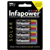 Infapower B008  Rechargeable AA Ni-MH Batteries 600mAh 4 Pack