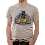 Thor Ragnarok - Rock Men's X-Large T-Shirt - Grey