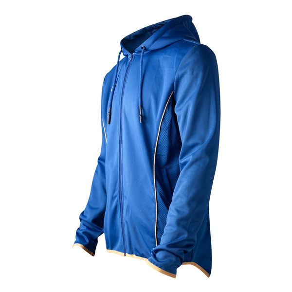 Fallout - Vault 76 Teq Men's Large Hoodie - Blue/Yellow