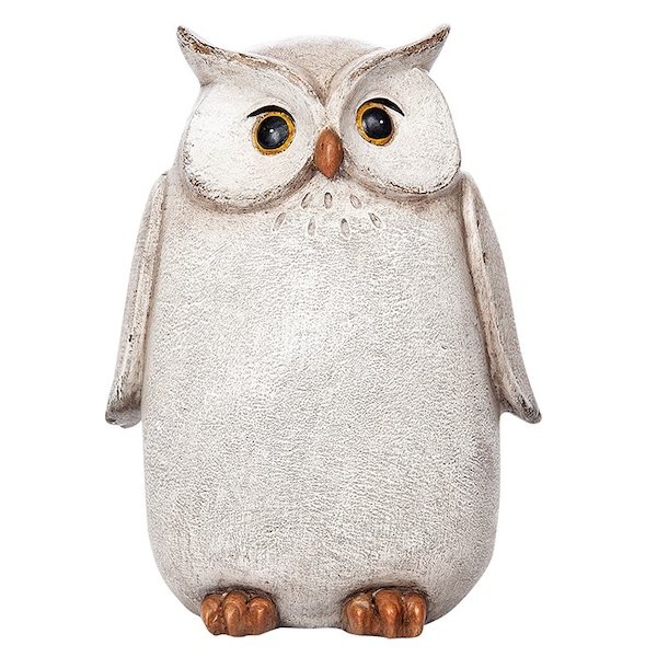 Country White Owl Large Ornament