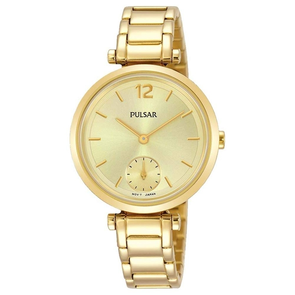 Pulsar PN4068X1 Ladies Gold Bracelet Dress  50M Watch