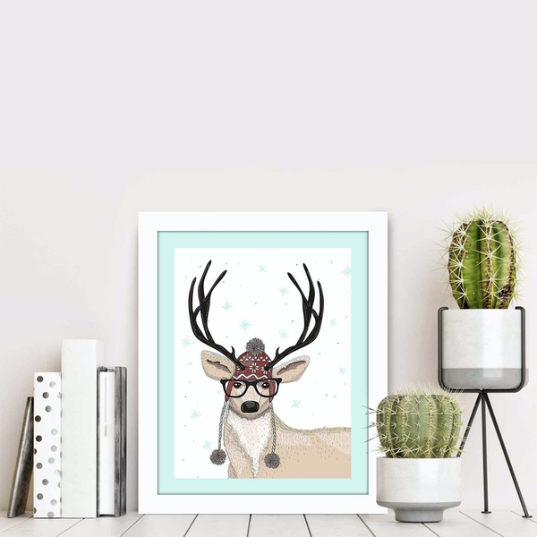 BCT-020 Multicolor Decorative Framed MDF Painting
