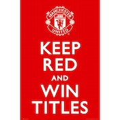 Manchester United Keep Red Maxi Poster