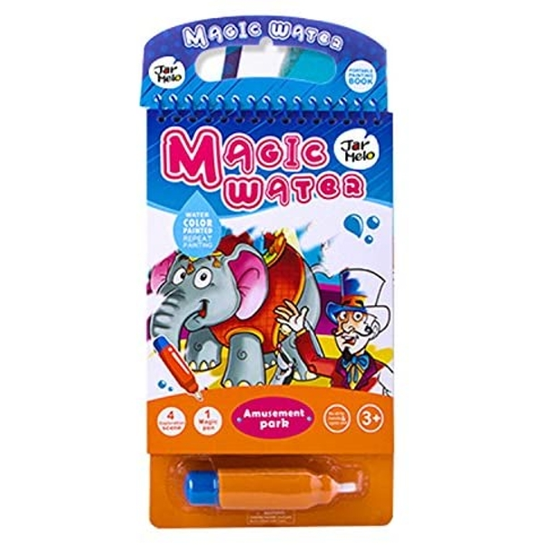 Magic Water Colouring Pad With Water Pen - Amusement Park