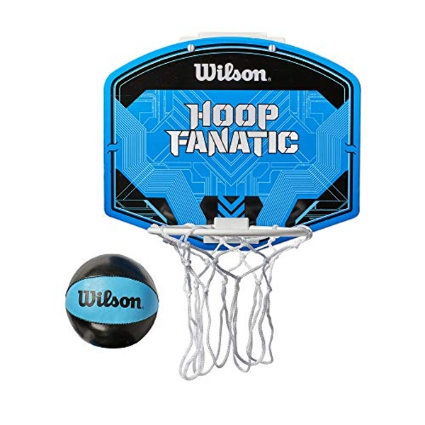 Wilson Men's Fanatic Mini BSKT Hoop Basketball, Blue/Black, Uni