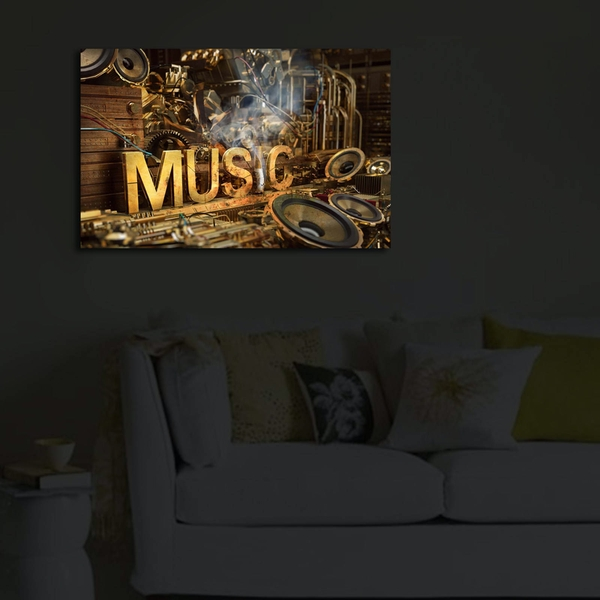 4570?ACT-35 Multicolor Decorative Led Lighted Canvas Painting