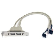 StarTech 2 Port USB A Female Low Profile Slot Plate Adapter
