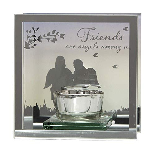Reflections Of The Heart Mirror Tealight Holder - Friends
