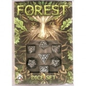 Forest Dice Set White & Black Board Game