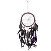 Purple Peacock Feather Dreamcatcher