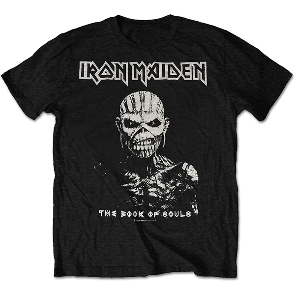 Iron Maiden - The Book of Souls White Contrast Unisex X-Large T-Shirt - Black