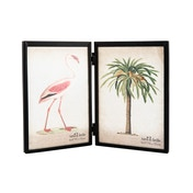 Sass & Belle Jet Black Double Photo Frame