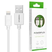 Powerflex 1m White Lightning Cable - Apple Certified (Retail Box)