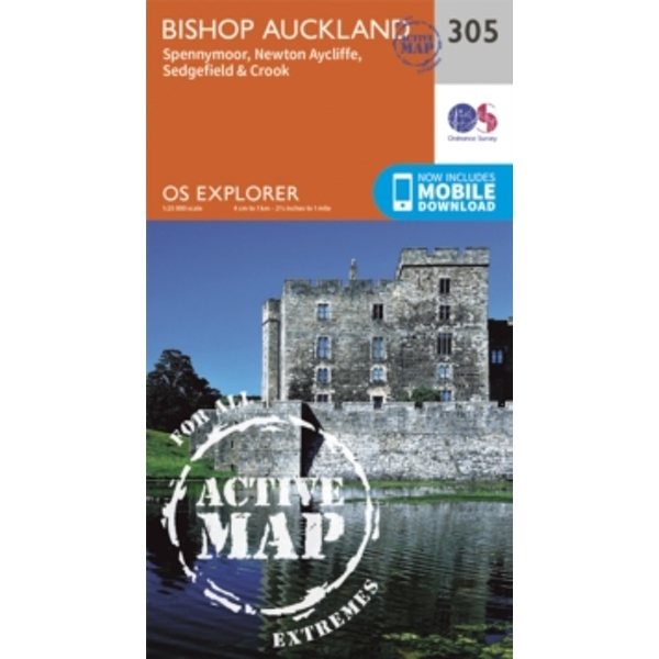 Bishop Auckland - Spennymoor and Newtown by Ordnance Survey (Sheet map, folded, 2015)
