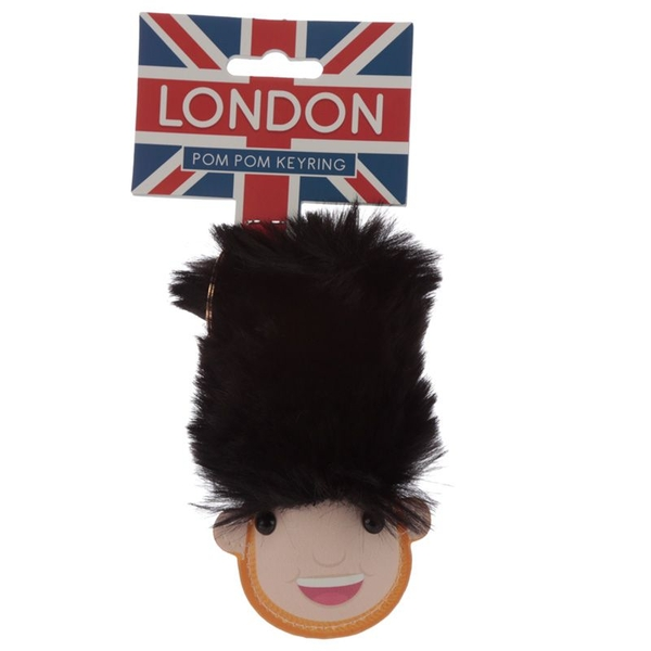 London Guardsman Pom Pom Keyring