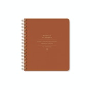 Orange Faux Leather Non Dated Weekly Planner