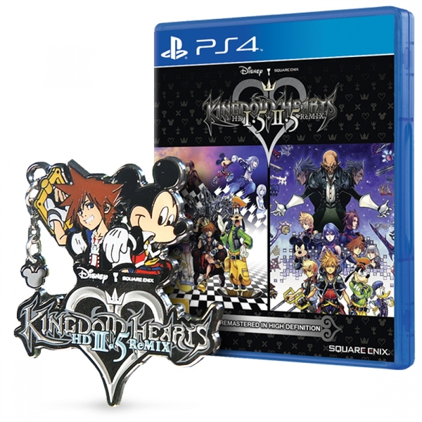 Kingdom Hearts HD 1 5 & 2 5 Remix PS4 Game (with Exclusive Collectible pin)