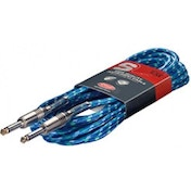 Stagg SGC6VTBL 6m S Series Vintage Tweed Instrument Cable Blue