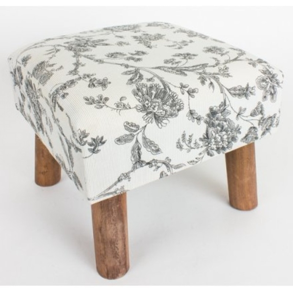 Floral Pattern Footstool By Heaven Sends