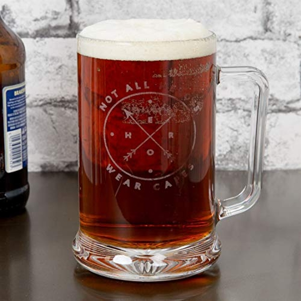 Hero Glass Tankard - Not All Heroes Wear Capes