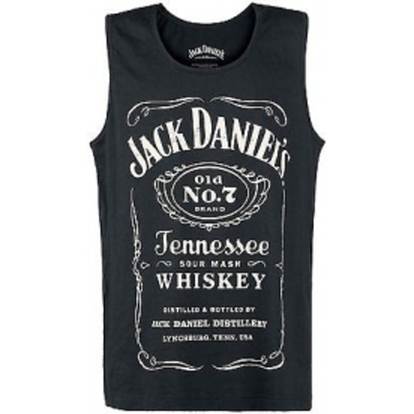Jack Daniels Adult Male Old No.7 Brand Logo Large Tank Top (Black)