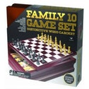 Classic Wood Family 10 Game Set Black & Gold