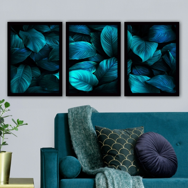 3SC09 Multicolor Decorative Framed Painting (3 Pieces)
