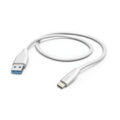 Hama Charging/Data Cable, USB Type-C - USB 3.1 A Plug, 1.5 m, white