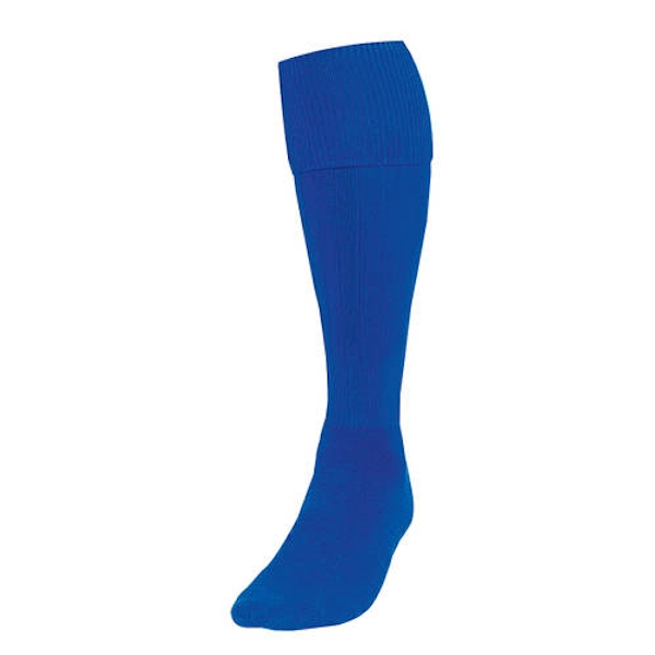 Precision Plain Football Socks Royal UK Size 3-6