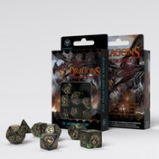 Q-Workshop Dragon Green & Gold Dice Set