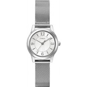Timex Women's Quartz Watch with Silver Dial Analogue Display and Gold Stainless Steel Bracelet T2P458