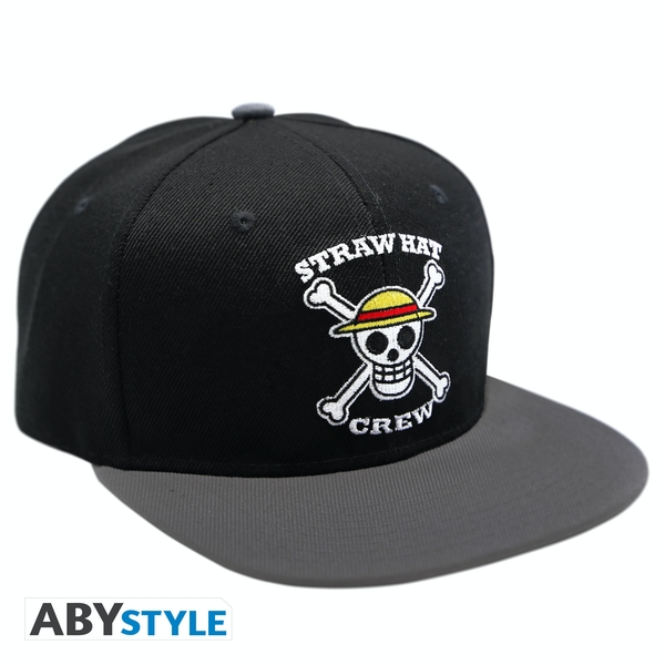 One Piece - Skull Snapback Cap - Black & Grey
