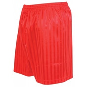 Precision Striped Continental Football Shorts 22-24 inch Red