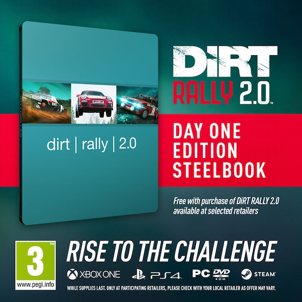 dirt rally 2 0 deluxe edition ps4 game steelbook. Black Bedroom Furniture Sets. Home Design Ideas