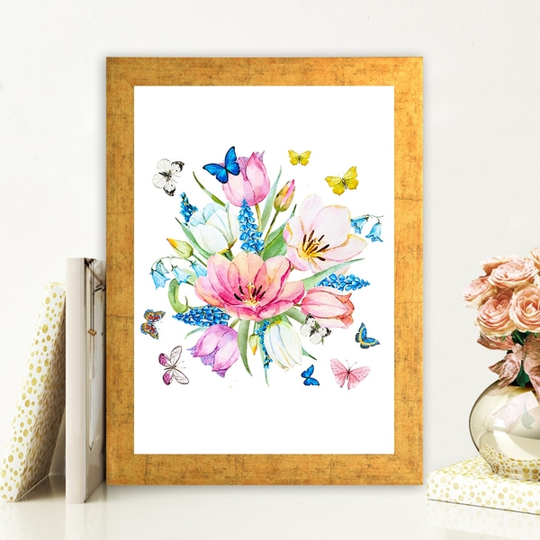 AC98908398 Multicolor Decorative Framed MDF Painting